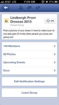 This easy-access mobile facebook app is a great way to upload a pic of your dress to make sure no one else buys it.