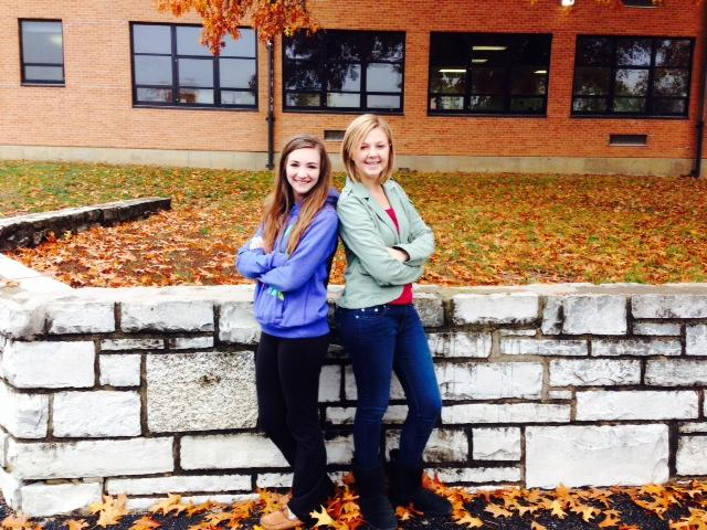 Emily Bartz-Mills (11) and Tara Leclare (11) display both sides of dressing up and dressing down.