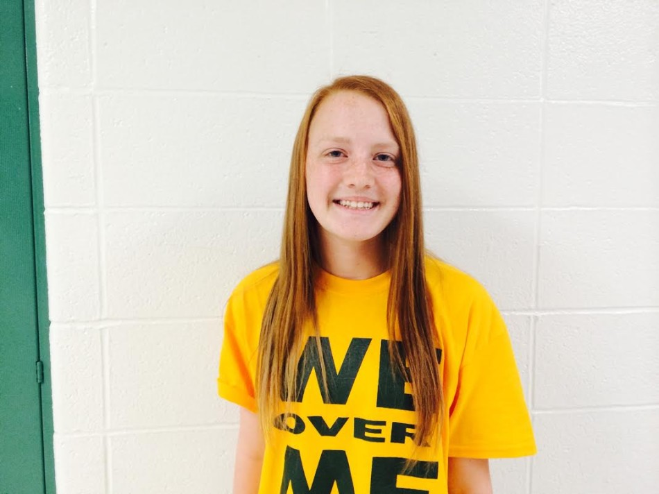 Erin McCgee (9) is so excited to be apart of Lindbergh soccer and is determined to help the team thrive.