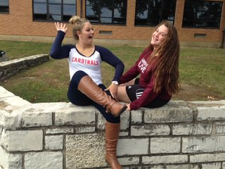 Lexie Tamborrino (11) and Courtney Santistevan (10) share their embarrassing moments with each other.